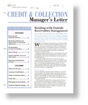 credit collection managers letter