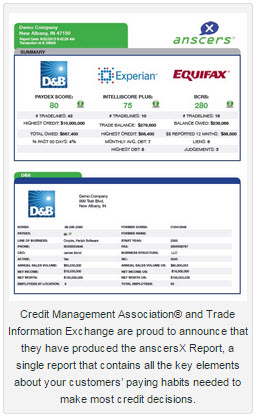 Announcing the new anscersx report that combines key data from db announcing the new anscersx report that combines key data from db experian and equifax into one business credit report reheart Gallery