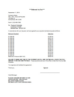 Payment Plan Letter To Customer from www.credittoday.net